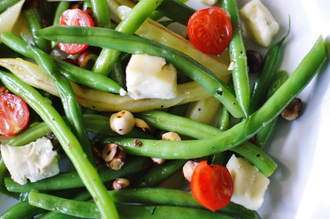 Green bean salad with gorgonzola and hazelnuts - MYFOODPASSION